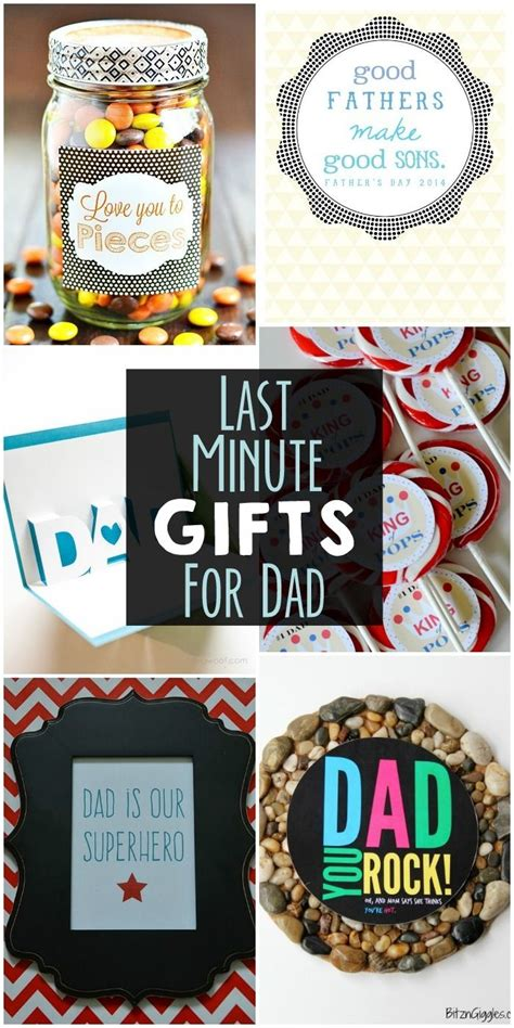 Last Minute Gifts for Dad - a collection of easy gifts for